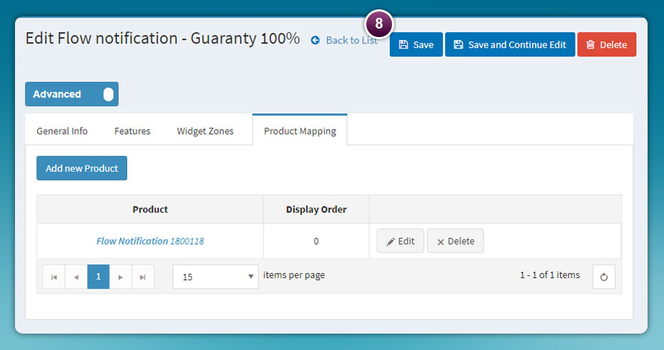Product Mapping Notification | nopCommerce Mapping | NOP-NYCO